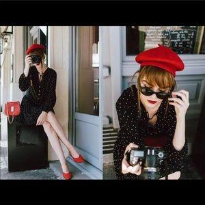Vintage retro polka dot dress